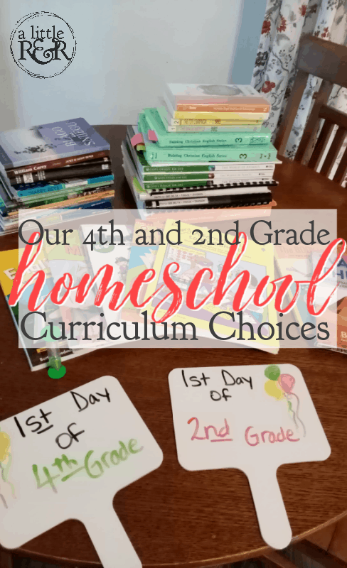 homeschool curriculum and supplies on a table