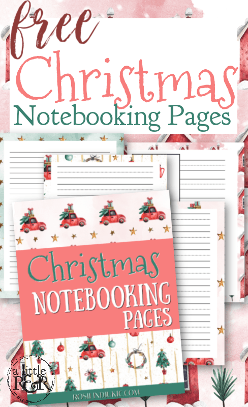 These free Christmas Notebooking Pages are colorful and fun. There are pages for 4 different writing levels to use with multiple ages. #alittlerandr #notebooking #printables #Christmas  #homeschooling #MERLD #specialneedshomeschooling #journaling #artjournaling via @alittlerandr