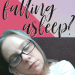 Podcast image of podcaster falling asleep