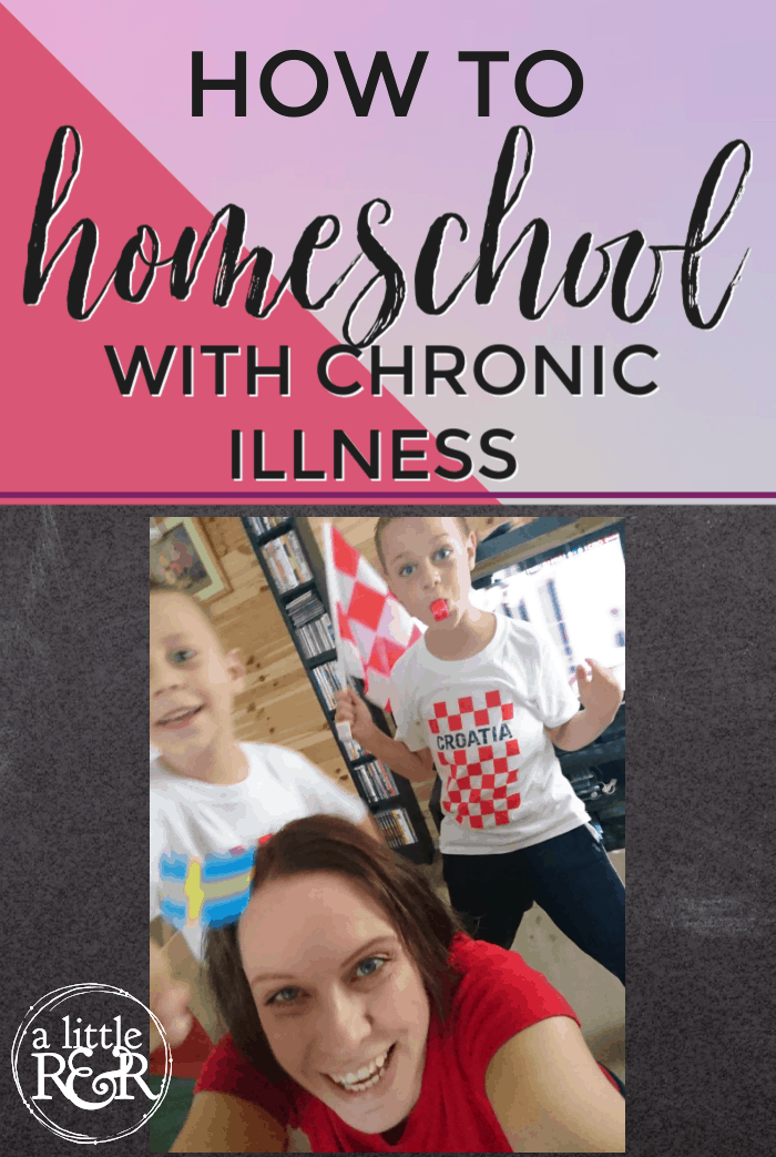 Homeschooling with chronic illness can be overwhelming and seemingly impossible. But it can be done, so here are my best tips. #alittlerandr #homeschool #homeschooltips #ChronicIllness via @alittlerandr