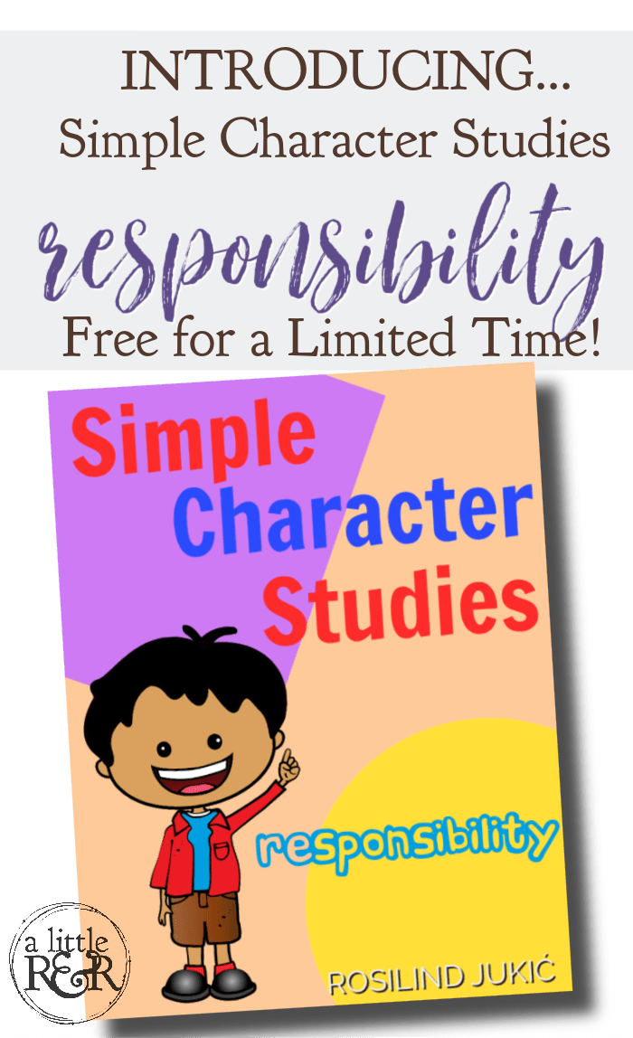 This Simple Character Studies - Responsibility is a 20-page pack of Bible stories, activities, and games to help your children learn the quality of responsibility. #alittlerandr #character #responsibility #homeschooling #Bible #curriculum via @alittlerandr