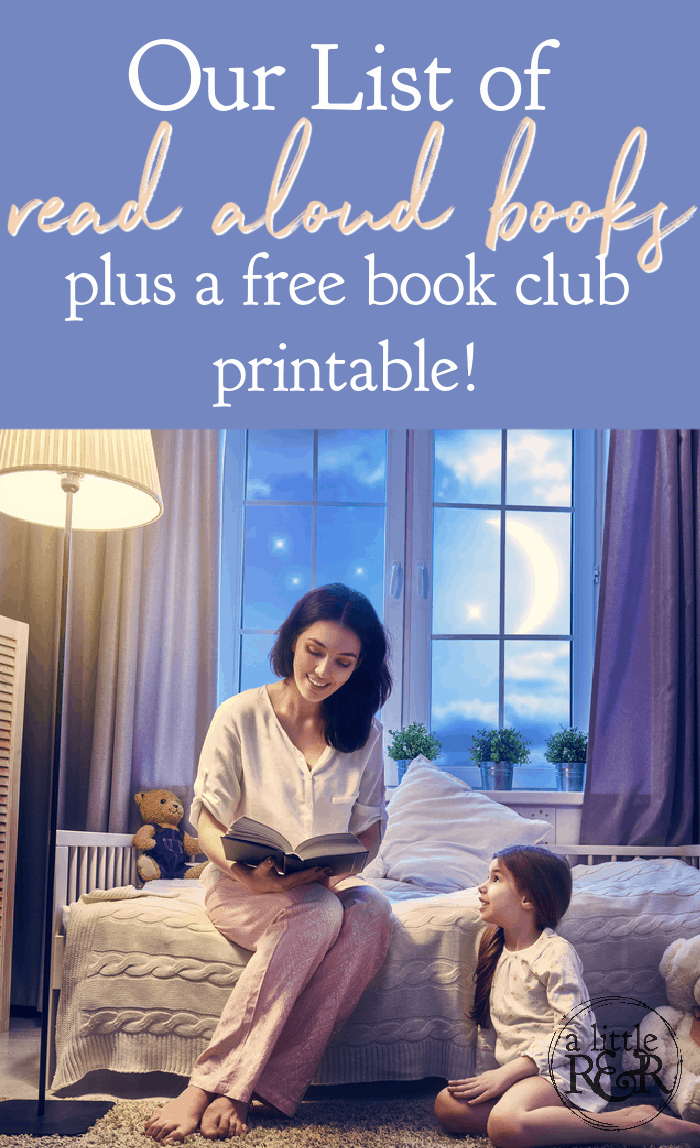 There are endless benefits to reading aloud to your children. Here is our list of read aloud books for this school year. #alittlerandr #books #reading #readalouds #chapterbooks via @alittlerandr